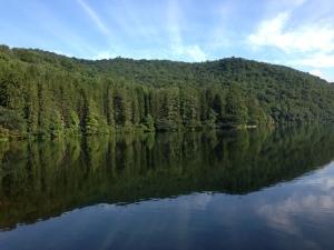 (Photo taken in September at Lake Logan near Canton, North Carolina.)