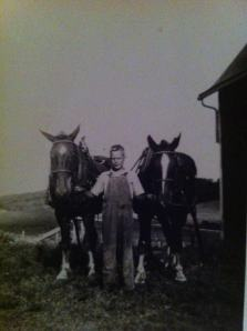 (Photo of Dad taken on family farm in Wisconsin.)