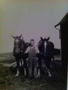(Photo of Dad taken on family farm in Wisconsin.)